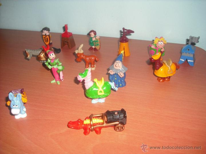 Figuras Kinder: SERIE CASTILLO DIVERTIDO - SALIAN EN HUEVOS KINDER - LOTE DE 14 FIGURAS O MUÑECOS - Foto 3 - 50950834