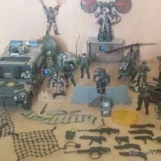 Figuras de Goma y PVC: CHAP MEI SOLDIER FORCE LOTE DE 13 SOLDADOS Y 5 VEHICULOS Y MUCHOS ACCESORIOS. Lote 98251844
