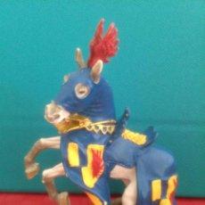 Figuras de Goma y PVC: FIGURA PVC CABALLO MEDIEVAL PLASTOY. Lote 50994803
