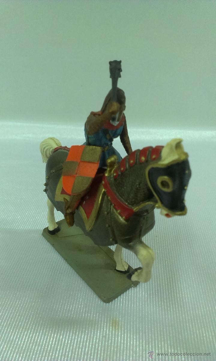 Figuras de Goma y PVC: GUERRERO MEDIEVAL A CABALLO . STARLUX . AÑOS 60 - Foto 2 - 51049683