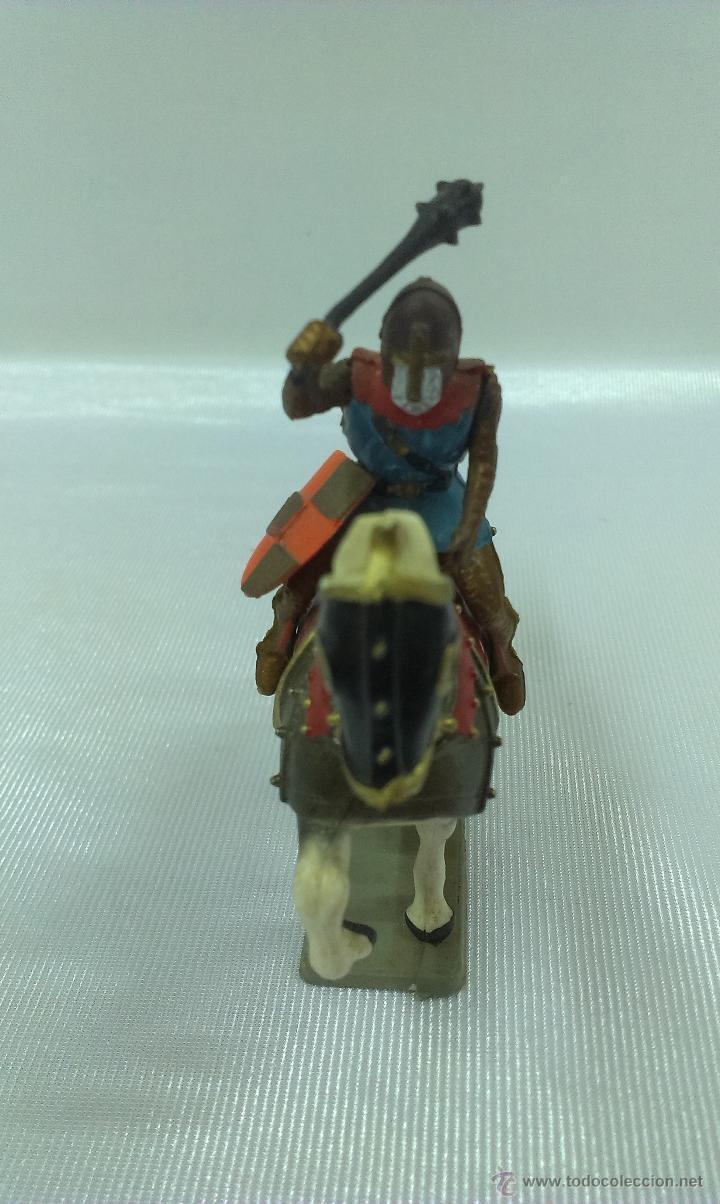Figuras de Goma y PVC: GUERRERO MEDIEVAL A CABALLO . STARLUX . AÑOS 60 - Foto 3 - 51049683