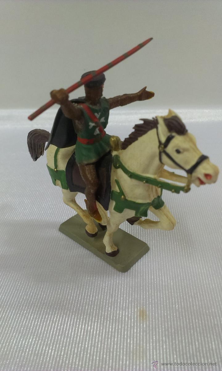 Figuras de Goma y PVC: GUERRERO MEDIEVAL A CABALLO . STARLUX . AÑOS 60 - Foto 2 - 51049927