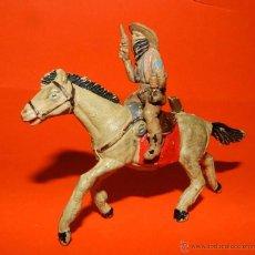 Figuras de Goma y PVC: VAQUERO GOMA PECH, A CABALLO, TAL COMO SE VE EN LAS FOTOS PUESTAS.. Lote 51119634