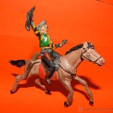 Figuras de Goma y PVC: VAQUERO GOMA PECH, A CABALLO, TAL COMO SE VE EN LAS FOTOS PUESTAS.. Lote 51119930