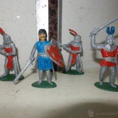 Figuras de Goma y PVC: LOTE DE FIGURAS MEDIEVALES EL REY ARTURO FIGURAS LAFREDO PINTADAS A MANO. Lote 51133304