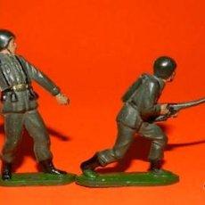 Figuras de Goma y PVC: 4 SOLDADOS TEIXIDO DE GOMA, TAL COMO SE VE EN LAS FOTOGRAFIAS PUESTAS.. Lote 53642524