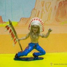 Figuras de Goma y PVC: RARO JEFE INDIO STARLUX COFALU . Lote 51149859