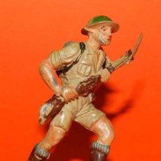 Figuras de Goma y PVC: SOLDADO INGLES DE GOMA DE PECH, TAL COMO SE VE EN LAS FOTOGRAFIAS PUESTAS.. Lote 51153654