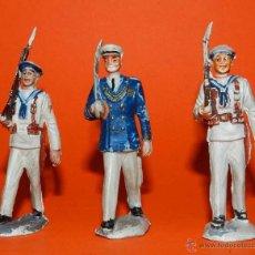 Figuras de Goma y PVC: 3 SOLDADOS DEL CUERPO DE MARINA DEL DESFILE DE PECH, REALIZADOS EN GOMA, TAL Y COMO SE VEN EN LAS FO. Lote 51222245