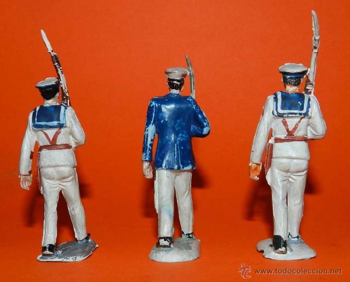 Figuras de Goma y PVC: 3 soldados del cuerpo de marina del Desfile de Pech, realizados en goma, tal y como se ven en las fo - Foto 2 - 51222245
