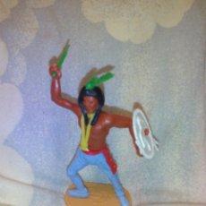Figuras de Goma y PVC: FIGURA INDIO CHERILEA TOYS - MADE IN ENGLAND, 7,5 CM. Lote 51323379