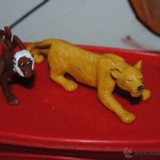Figuras de Goma y PVC: C62 FIGURA GOMA PVC SERIE ANIMALES COMANSI LEONA 12X4CM Y MONO 5X4.5CM. Lote 51332152