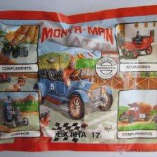 Figuras de Goma y PVC: MONTAPLEX MONTA MAN EXTRA 17 MONTA PLEX. VEHÍCULOS. COCHE. SOBRE CERRADO.. Lote 143612502