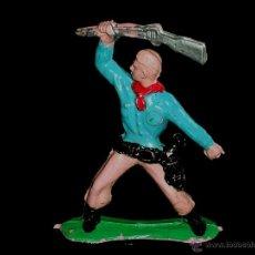 Figuras de Goma y PVC: FIGURA VAQUERO COWBOY, FABRICADO EN PLÁSTICO, SOTORRES, ORIGINAL AÑOS 60.. Lote 51393862