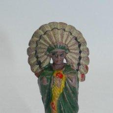 Figuras de Goma y PVC: JEFE INDIO DE REAMSA, REALIZADO EN GOMA, N. 93, MIDE 6,8 CMS.. Lote 51470274