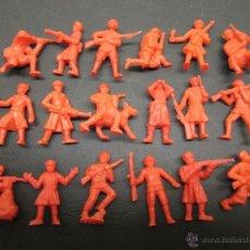 Figuras de Borracha e PVC: LOTE 18 FIGURITAS ORIGINALES DUNKIN SOLDADOS RUSOS,COLECCIÓN CASI COMPLETA. Lote 51526410
