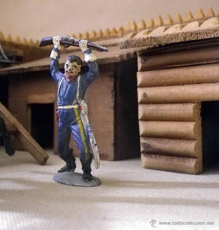 Figuras de Goma y PVC: ANTIGUO FUERTE DE MADERA, FORT BRAVO, DE GRAPAS, SIN BASE 42 x 38 cm, ESPAÑA, 1950s - Foto 20 - 51578812