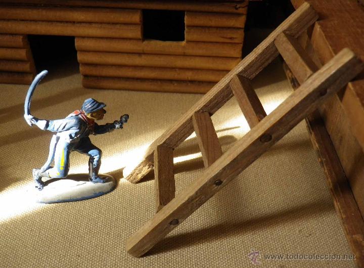 Figuras de Goma y PVC: ANTIGUO FUERTE DE MADERA, FORT BRAVO, DE GRAPAS, SIN BASE 42 x 38 cm, ESPAÑA, 1950s - Foto 21 - 51578812