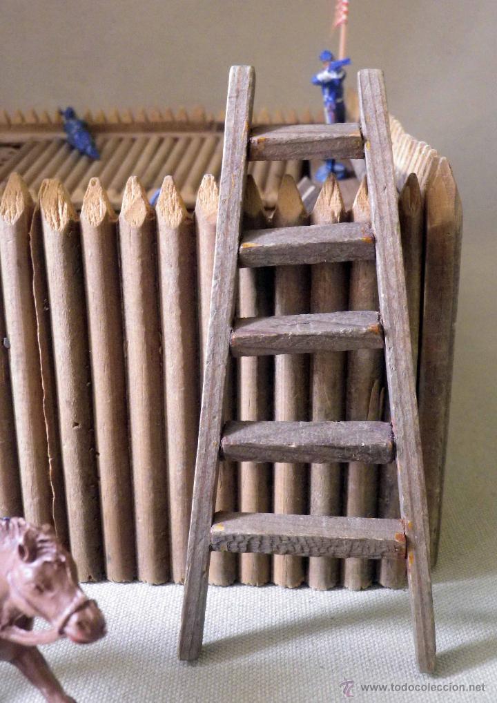 Figuras de Goma y PVC: ANTIGUO FUERTE DE MADERA, FORT BRAVO, DE GRAPAS, SIN BASE 42 x 38 cm, ESPAÑA, 1950s - Foto 29 - 51578812