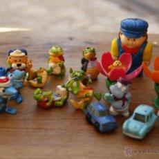 Figuras Kinder: LOTE JUGUETES HUEVO KINDER - COCODRILO - TIBURON - COCHES - 1€. Lote 51609647