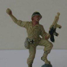 Figuras de Goma y PVC: SOLDADOS AMERICANOS EN COMBATE HERMANOS PECH HNOS GOMA 60 MM 1960. Lote 51631754