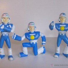 Figuras de Goma y PVC: LOTE 3 MUÑECOS DE ACTIMEL DANONE. GOMA DURA. Lote 51690350
