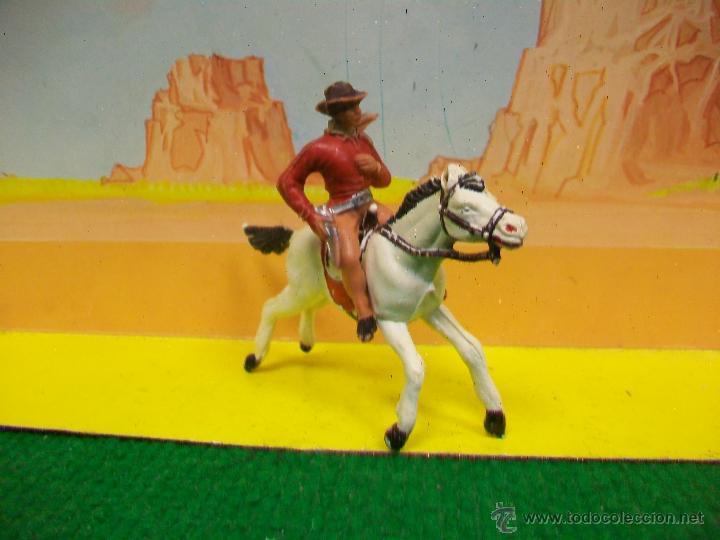 Figuras de Goma y PVC: FIGURA VAQUERO JECSAN - VAQUERO JECSAN - FIGURA PLASTICO DE JECSAN - Foto 2 - 51813580