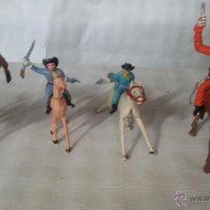 Figuras de Goma y PVC: LOTE DE CUATRO CABALLEROS . Lote 51920241