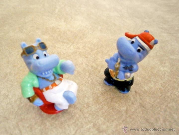 KINDER LOTE 2 FIGURAS HIPOPÓTAMOS FIGURITAS JUGUETE MINIATURAS (Juguetes - Figuras de Gomas y Pvc - Kinder)