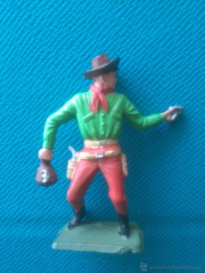 VINTAGE VAQUERO COWBOY STARLUX ATRACO AL BANCO (Juguetes - Figuras de Goma  y Pvc - 862a95ae6ae1