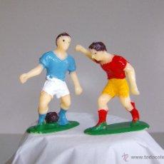 Figuras de Goma y PVC: LOTE DOS FUTBOLISTAS DE PLASTICO. Lote 52134274