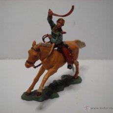 Figuras de Goma y PVC: FIGURA CABALLO Y VAQUERO HERALD MADE IN ENGLAND. Lote 52140873