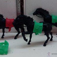 Figuras de Goma y PVC: CABALLOS LAFREDO CON SILLAS DESMONTABLES GRANDE. Lote 52261838