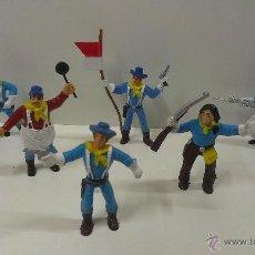 Figuras de Goma y PVC: LOTE DE SOLDADOS YANKEES Y RASTREADOR . COMANSI. Lote 52278223