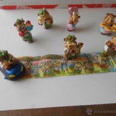 Figuras Kinder: 7 FIGURAS HUEVO KINDER FERRERO TOP TEN TEDDIES VER MAS FIGURAS KINDER. Lote 52318895