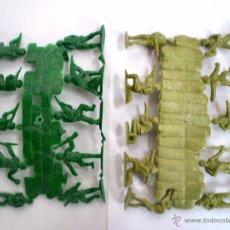 Figuras de Goma y PVC: MONTAPLEX LOTE SEGUNDA GUERRA MUNDIAL PACIFICO WWII - 2 COLADAS AMERICANOS Y JAPONESES GRANDES. Lote 52912622