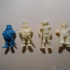 Figuras de Goma y PVC: LOTE FIGURAS PLASTICO ARIEL DUNKINU OTRAS SERIE PIRATAS RARAS 70/80 BLANCO AZUL. Lote 52364583