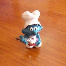 Figuras de Goma y PVC: MUÑECO FIGURA PITUFO PASTELERO SCHLEICH PITUFOS PEYO. 80S. Lote 52399563