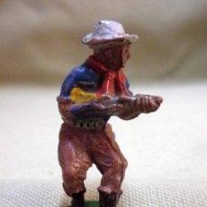 Figuras de Goma y PVC: FIGURA DE GOMA, VAQUERO, COW BOY, FABRICADO POR LAFREDO, 1950S 5 CM.. Lote 52475683