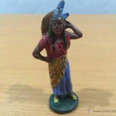 Figuras de Goma y PVC: ELASTOLIN HAUSSER FIGURA DE INDIA EN COMPOSICION REAMSA. Lote 52493543
