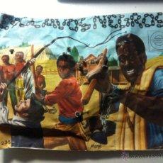 Figuras de Goma y PVC: ANTIGUOS SOBRE MONTAPLEX. ESCLAVOS NEGROS. MUY RARO Y POCO VISTO. UNICO. Lote 56038482