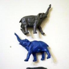 Figuras de Goma y PVC: 3 ANIMALES DE PLÁSTICO ELEFANTE ELEFANTES (AÑOS 80). Lote 52562102