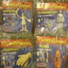 Figuras de Goma y PVC: PHOSKITOS CASTILLO DEL TERROR 4 FIGURAS WARRIOR, FRANKESTEIN, MAGIMANO Y TRONKY. Lote 46674721