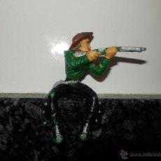 Figuras de Goma y PVC: FIGURA VAQUERO LAFREDO DILIGENCIA CARRUAJE. Lote 52579055
