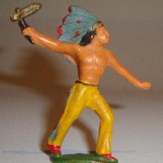 Figuras de Goma y PVC: FIGURA INDIO STARLUX BUENA CONSERVACION. Lote 52615433