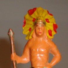 Figuras de Goma y PVC: FIGURA INDIO STARLUX BUENA CONSERVACION. Lote 52615453
