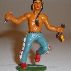 Figuras de Goma y PVC: FIGURA INDIO STARLUX BUENA CONSERVACION. Lote 52615478