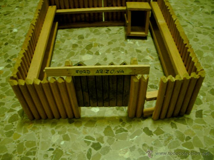 Figuras de Goma y PVC: FUERTE DEL OESTE EN MADERA NO ESTA COMPLETO REAMSA - Foto 2 - 52759875