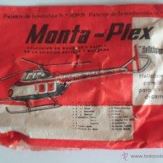 Figuras de Goma y PVC: SOBRE MONTAPLEX TAMAÑO PEQUEÑO HELICOPTERO FURIA. AÑO 1967.--N. Lote 52765484