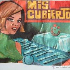 Figuras de Goma y PVC: SOBRE MONTAPLEX MIS CUBIERTOS. AÑOS 70.--N. Lote 52765653